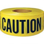 Caution Tape Non Adhesive 75mm x 300M Print